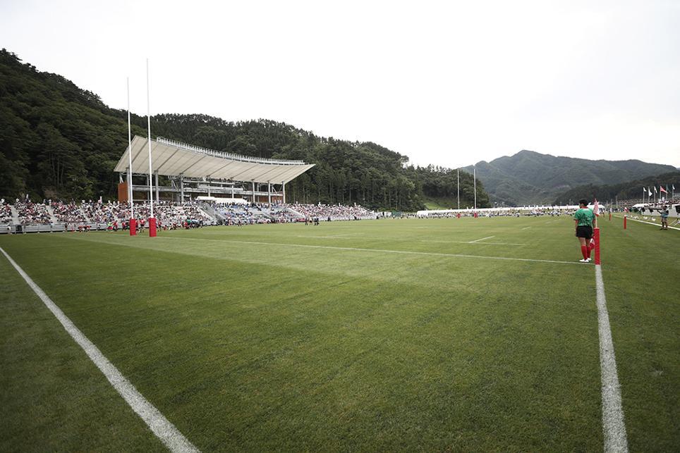 El estadio de Kamaishi, pronto para recibir a Los Teros