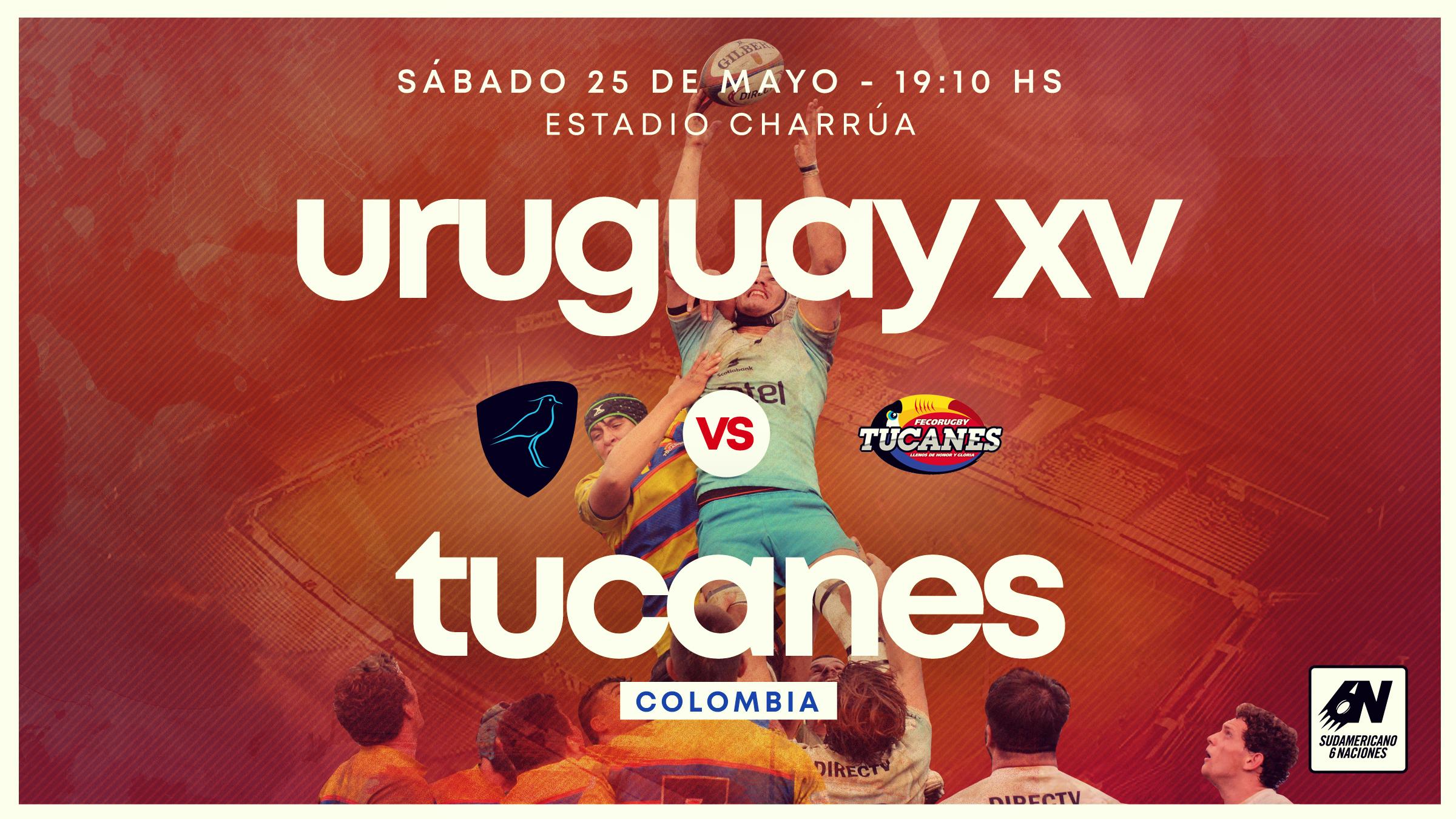 Uruguay XV recibe a Colombia en la definición del #SAR6N