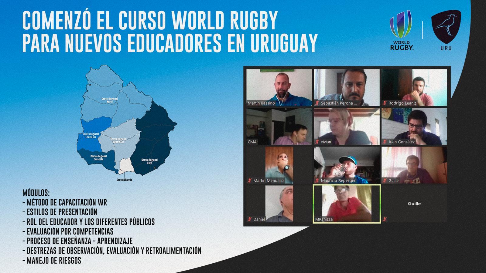 Curso World Rugby para nuevos educadores en Uruguay